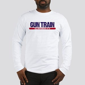 Gun Train USS Independence CV Long Sleeve T-Shirt